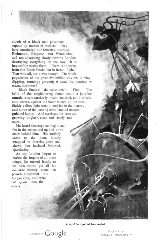 This image is a facsimile of page 229 of the fifth installment of The War of the Worlds as it was published in Pearson's Magazine in August of 1897.