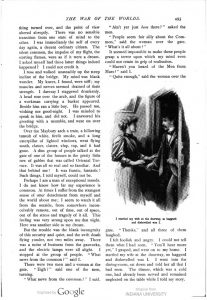 This image is a facsimile of page 493 of the second installment of The War of the Worlds as it was published in Pearson's Magazine in May of 1897.