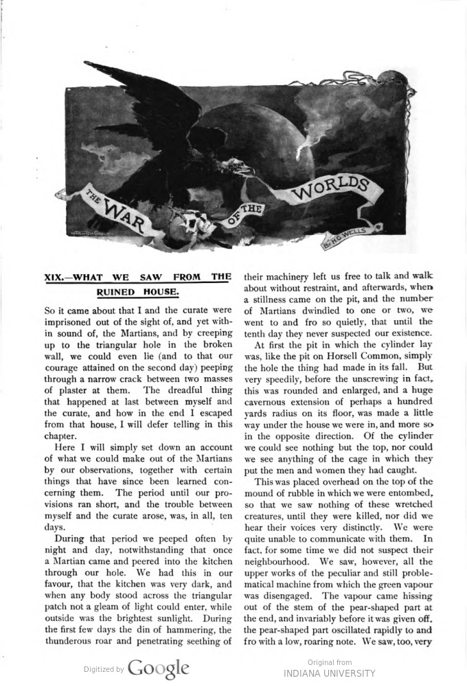 This image is a facsimile of page 558 of the eighth installment of The War of the Worlds as it was published in Pearson's Magazine in November of 1897.