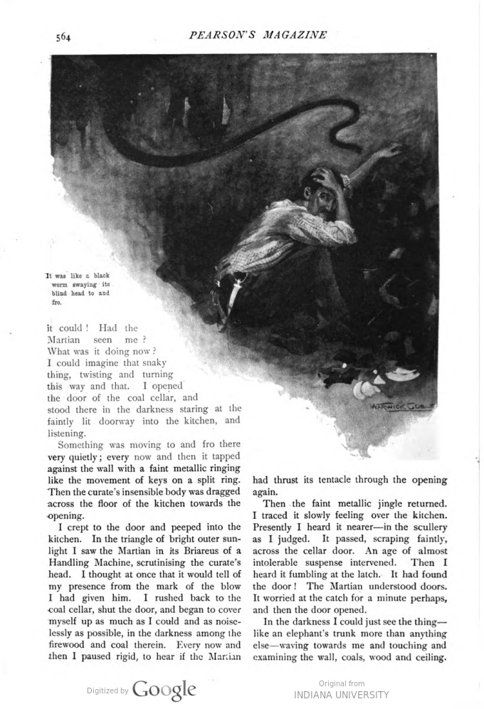This image is a facsimile of page 564 of the eighth installment of The War of the Worlds as it was published in Pearson's Magazine in November of 1897.