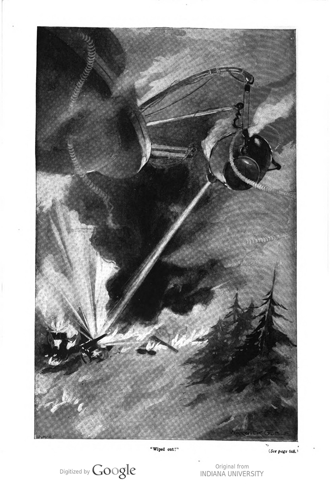 This image is a facsimile of page 598 of the third installment of The War of the Worlds as it was published in Pearson's Magazine in June of 1897.