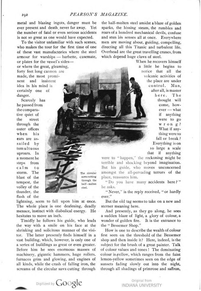 This image is a facsimile of page 292 of the March 1897 issue of Pearson's Magazine.