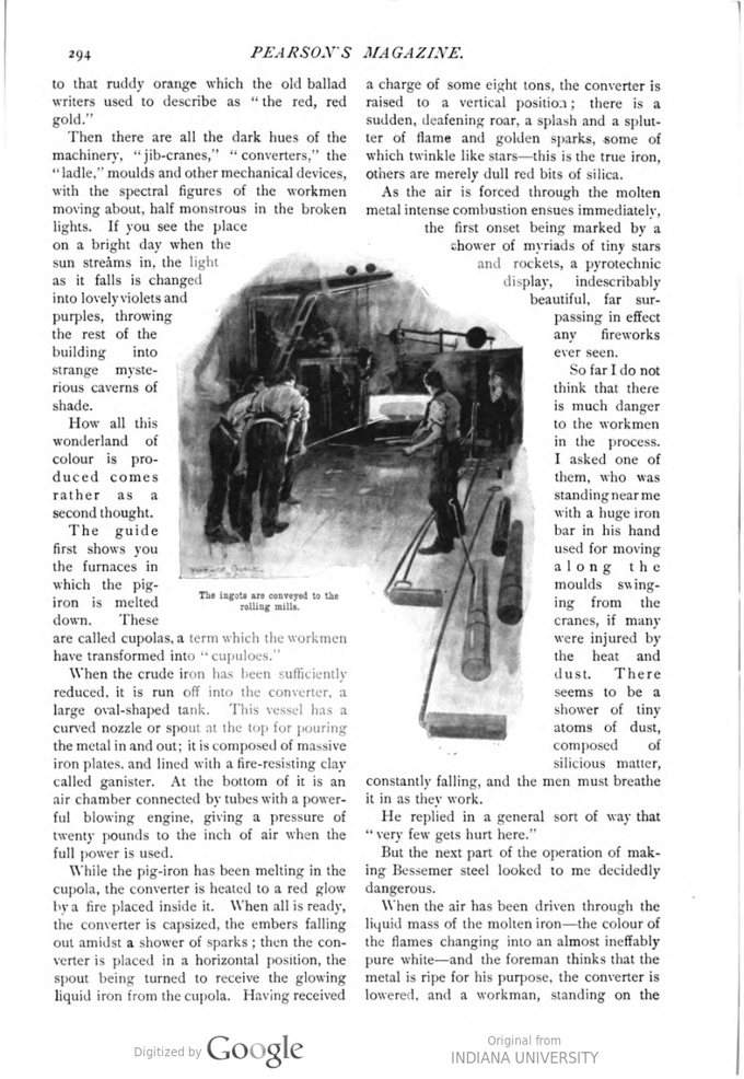 This image is a facsimile of page 294 of the March 1897 issue of Pearson's Magazine.