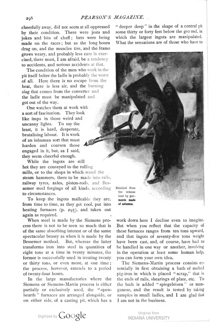 This image is a facsimile of page 296 of the March 1897 issue of Pearson's Magazine.